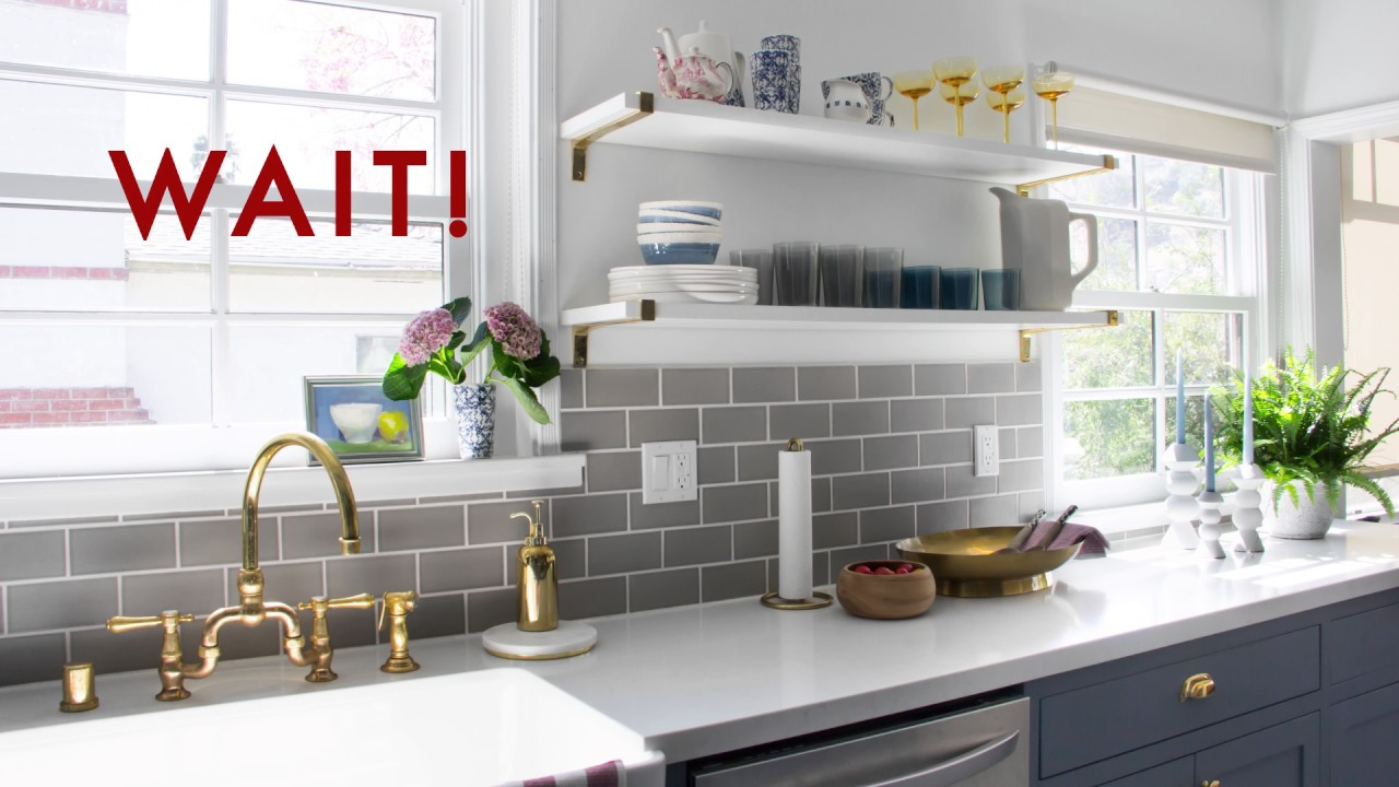 How To Style Open Shelving Emily Henderson