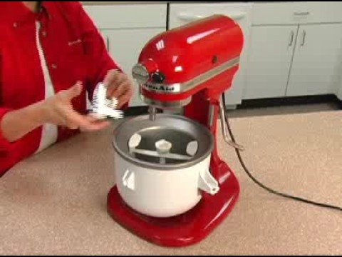 Ice Cream Maker embly for all Bowl-Lift Design Mixers - YouTube on kitchenaid grater attachment, kitchenaid grinder attachment, milkshake kitchenaid attachment, kitchenaid meat tenderizer attachment, kitchenaid slicer attachment, kitchenaid lasagna attachment, kitchenaid spatula attachment, kitchenaid food processor attachment, kitchenaid pasta attachment, kitchenaid cuber attachment,