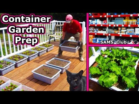 Container Garden Prep Soil Planting Square Foot