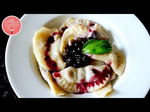 How To Make Blueberry Pierogi (Vareniki) | Вареники с черникой Recipes Vegetarian Food