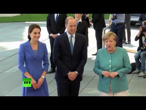 Angela Merkel welcomes Prince William and Duchess of Cambridge to Berlin