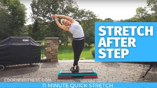 Step Aerobics Post Workout Stretch Routine