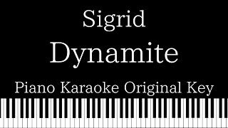 【Piano Karaoke】Dynamite / Sigrid【Original Key】 Video