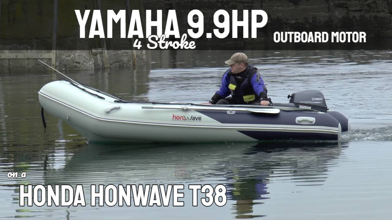 Yamaha 9 9 Outboard and Honda Honwave T38 Inflatable Boat - St Abbs