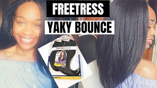 Installing Freetress PreLoop Yaky Bounce 3X Straight Crochet Hair + Review!