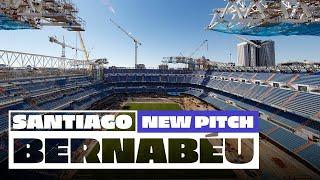 🌱 New pitch at Real Madrid's Santiago Bernabéu stadium!