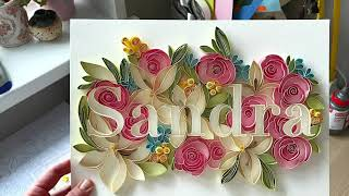 Detailed video with subtİtles HOW TO MAKE NAME in QUILLING technique