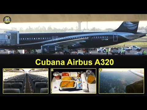 Cubana (Avion Express) Airbus A320 Business Class Havana-Mexico City [AirClips full flight series]