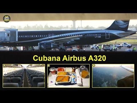 Cubana (Avion Express) Airbus A320 Business Class Havana-Mexico City [AirClips full flight series]