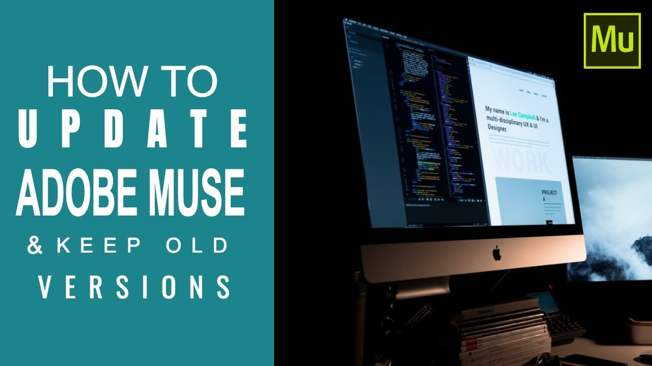 How to update Adobe Muse and keep old versions