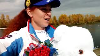 Олеся Ромасенко о победе в каноэ-микс с А.Крайтором в Кубке Чемпионов Международной федерации каноэ