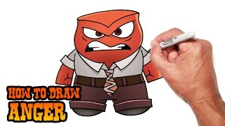How to Draw Anger- Inside Out- Simple Video Lesson