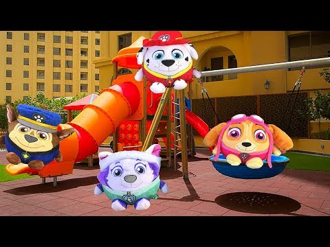 ? Funny Baby and New Paw Patrol Toys in the Outdoor Playground | Новые Игрушки Щенячий патруль 2018