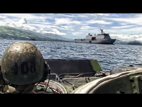Marines Amphibious Training With Philippine Navy