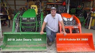 John Deere 1025R Vs. Kubota BX!! Round #1