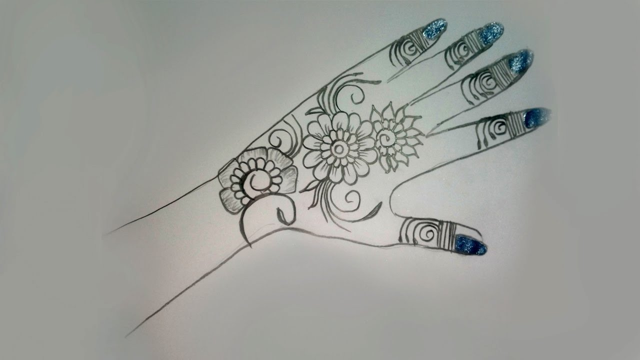 mehndi design for drawing