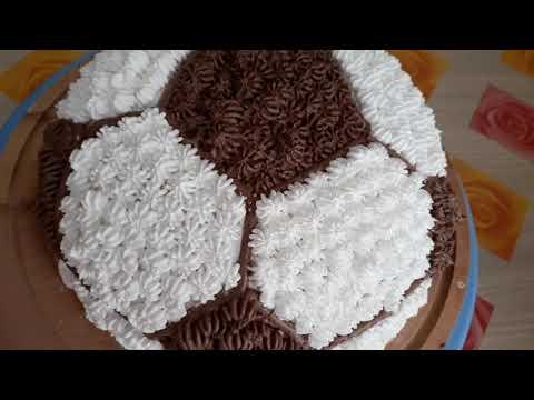 KOLAY ve GÖSTERİŞLİ enGÜZEL DOĞUMGÜNÜ PASTASI / Püf noktalarıyla futbol topu şeklinde pasta yapımı