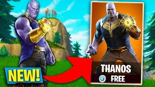 *NEW* AVENGERS THANOS FORTNITE SKIN COMING TO FORTNITE! (Fortnite: Battle Royale)