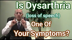 Dysarthria | Als Causes Of Slurred Speech | Loss Of Speech