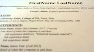BookRenter - How To Make A Resume Thumbnail