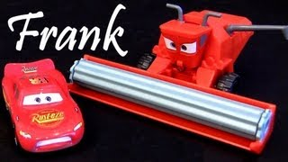 Tractor Tipping playset Lightning Mcqueen Disney Pixar Cars 2 tractors tippin review Blucollection