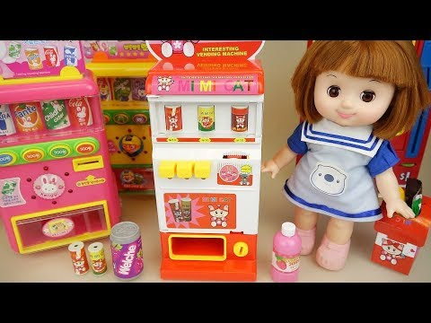 Thumbnail: Baby doli and drinks vending machines toys baby doll play