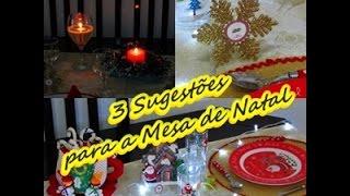 3 Sugestões para Montar a sua Mesa de Natal