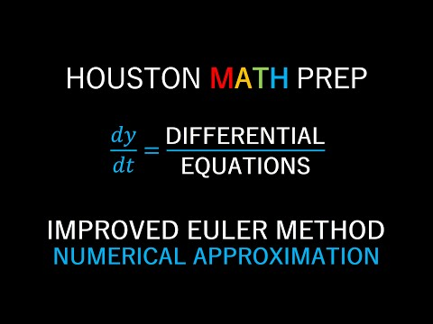 Improved Euler's Method (Numerical Solutions for Differential Equations)