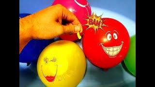 Учим цвета с ребенком Познавательное видео Цветные шарики Лопаем шарики с водой Поем вместе с детьми