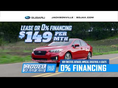 SUBARU OF JACKSONVILLE'S FINAL DAYS OF THE MODEL YEAR END SALES EVENT IS HAPPENING NOW