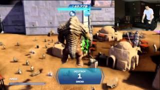 Star Wars Kinect Rancor Rampage Playthrough 1