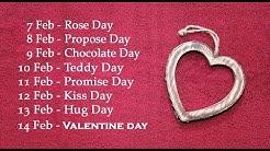 Valentine Week 2020 List  - All Days Before Valentine Days [Most Romantic Video]