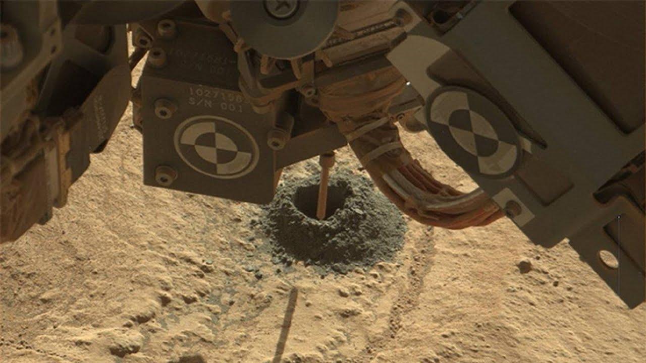 NASA s Curiosity Rover Drills on Mars