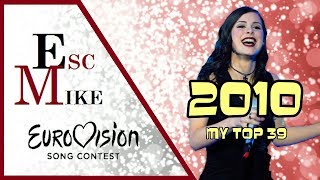 Eurovision 2010 - My Top 39 [With Rating]