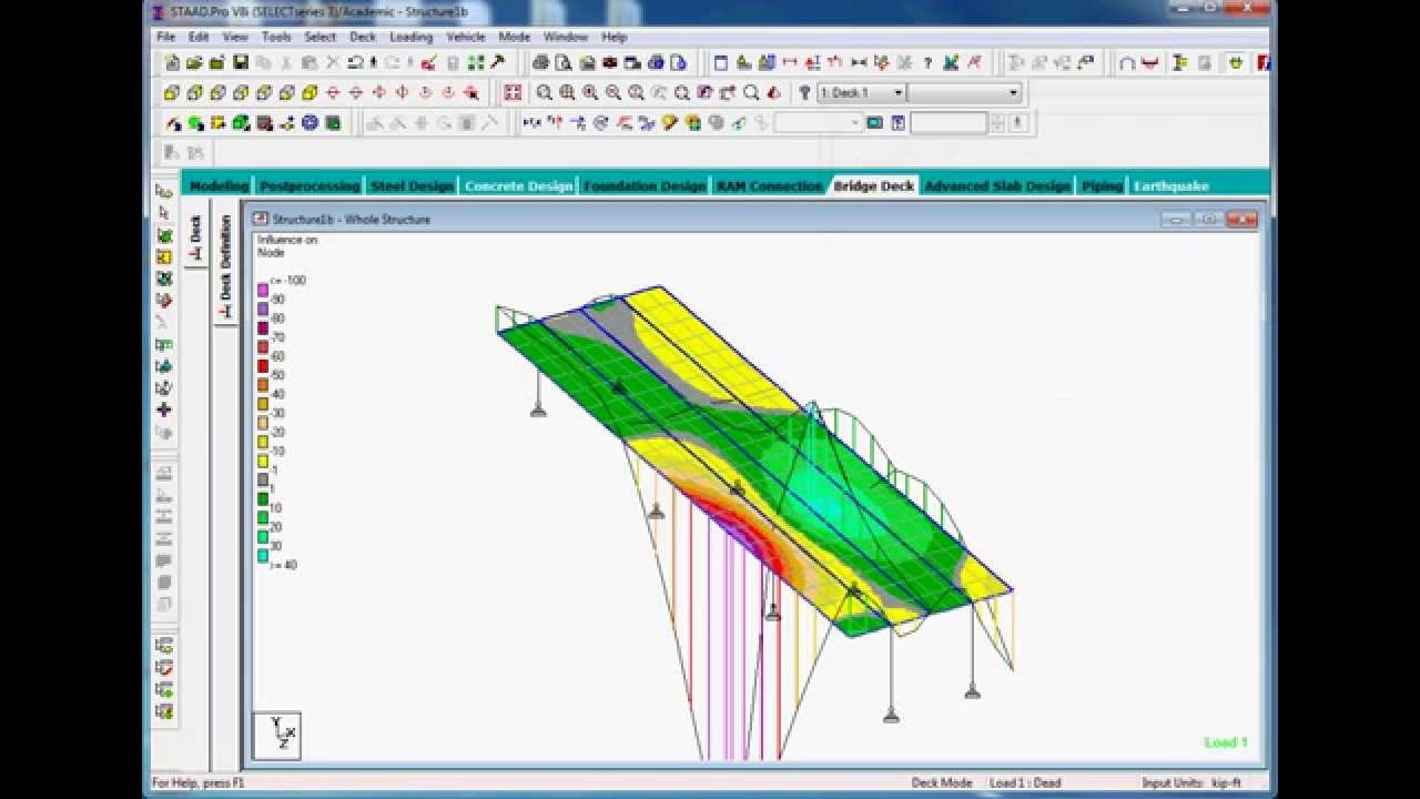 Bridge Design In Staad Pro Part2 Youtube