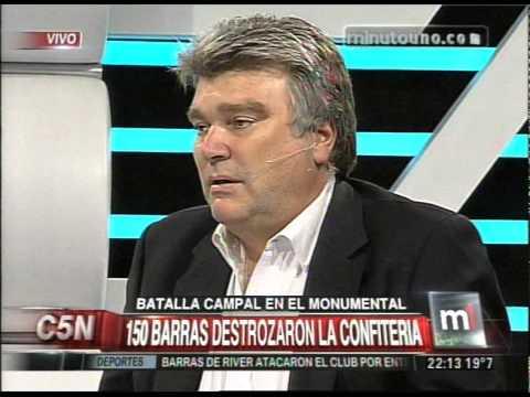 C5N - MINUTO UNO: BATALLA CAMPAL ENTRE LAS BARRABRAVAS
