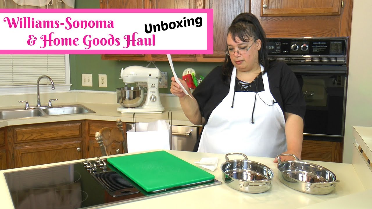 Kitchen Cookware Shopping Haul Unboxing Williams Sonoma Outlet Home Goods Amy Learns To Cook