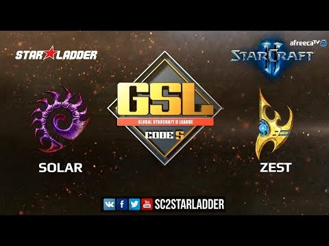 2018 GSL Season 2 Ro16 Group A Match 2: Solar (Z) vs Zest (P)