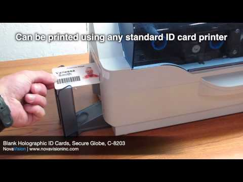 Blank Holographic ID Cards, Secure Globe, C-8203