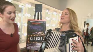 'Cabaret' cast member teaches Katie the accordion