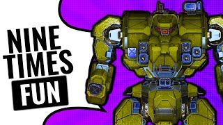 HOW MANY LASERS CAN YOU FIT? 9x ER Medium Laser Warhammer - Mechwarrior Online 2017 MWO - TTB