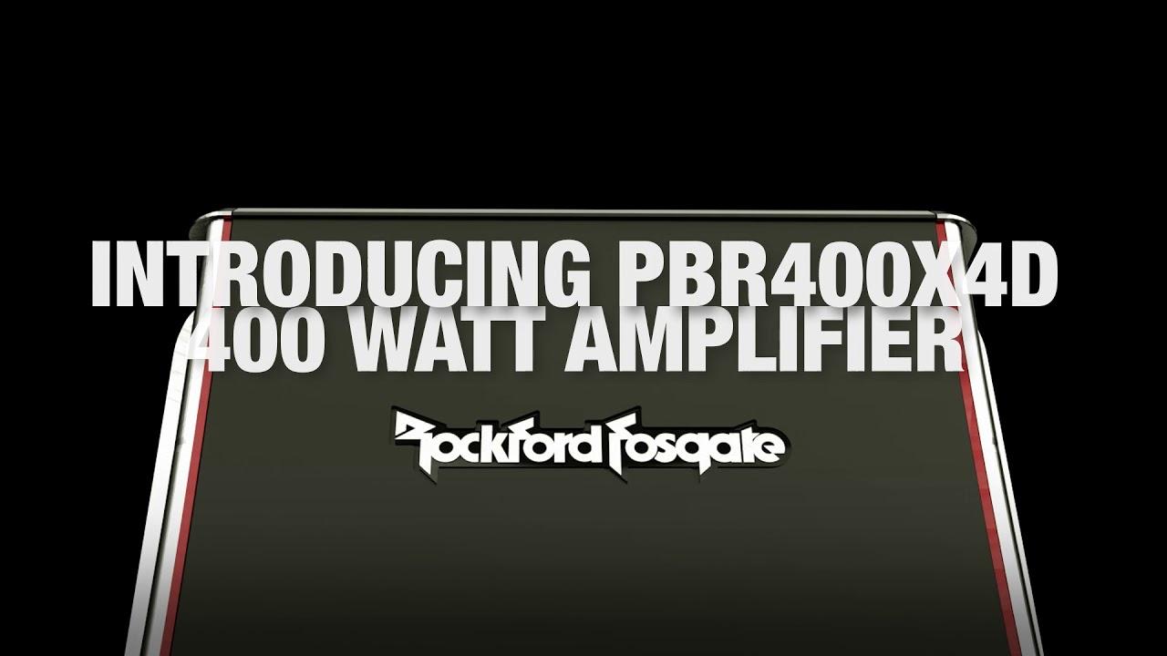Power 600 Watt 4 Channel Amplifier Rockford Fosgate