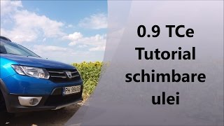 TUTORIAL schimbare ulei 0.9 TCe 90 / Oil change procedure for Dacia - Renault 0.9 TCe 90