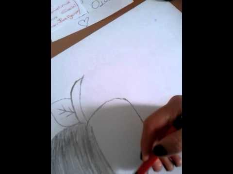 Karakalem Meyve çizimi Elma Kolay çizim Youtube