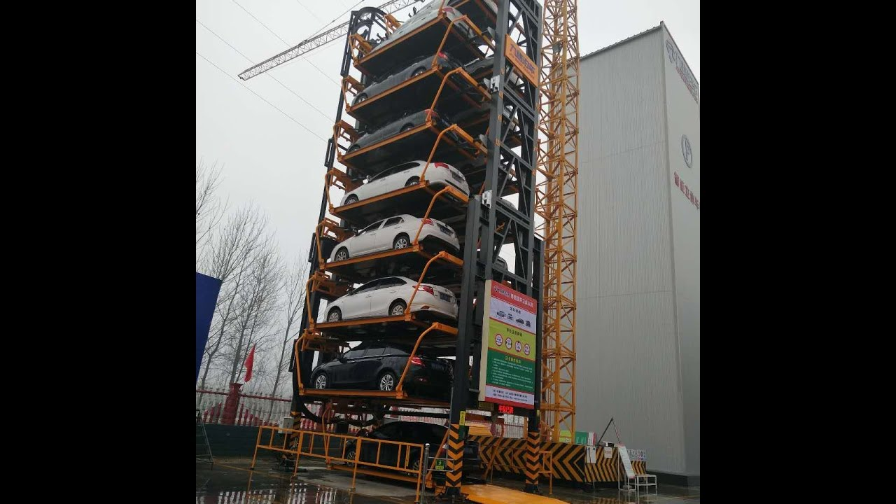 Rotary Car Parking System Smart Carousel Vertical Rotary