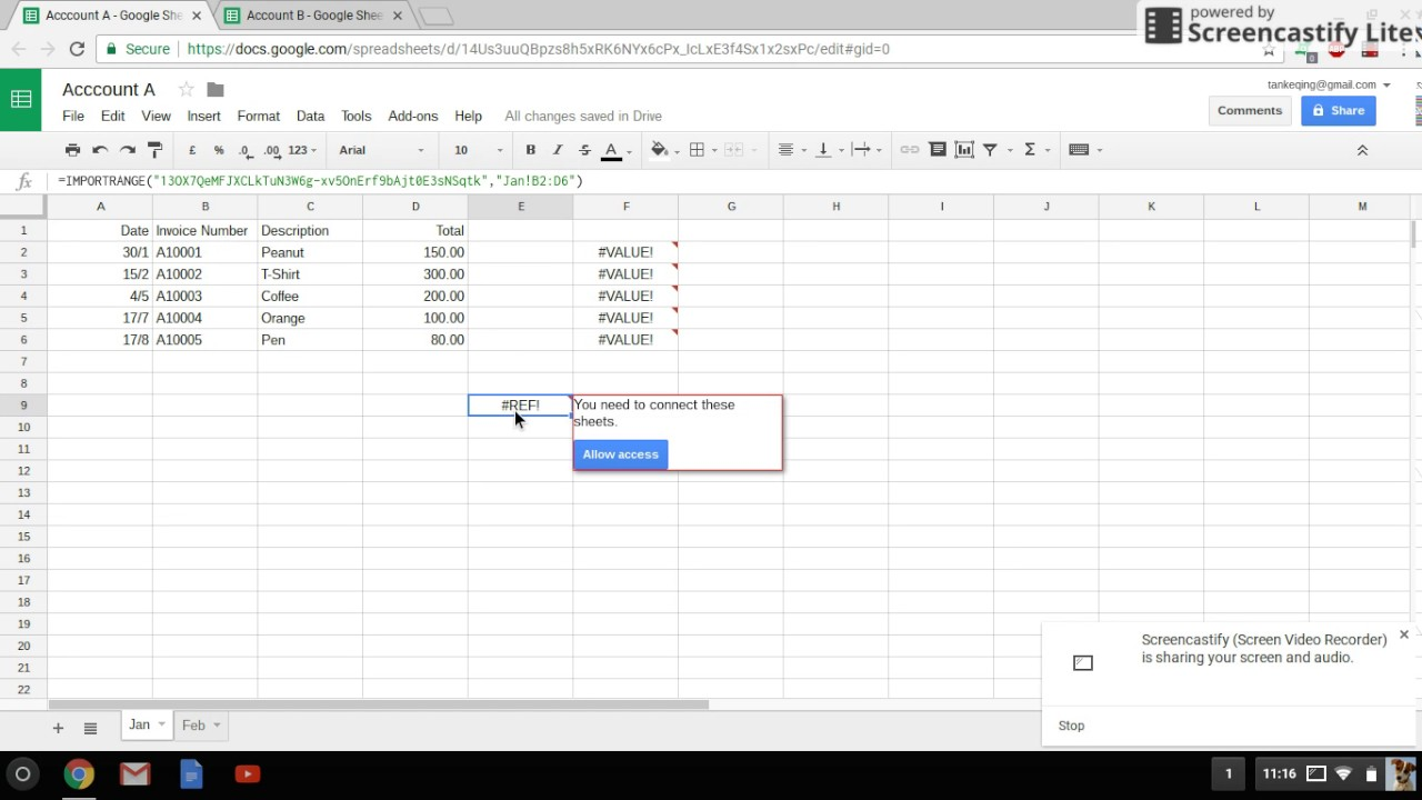 Google Sheet - Query import and compare data