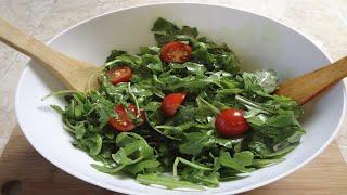 Салат на скорую руку / быстрый салат черри руккола