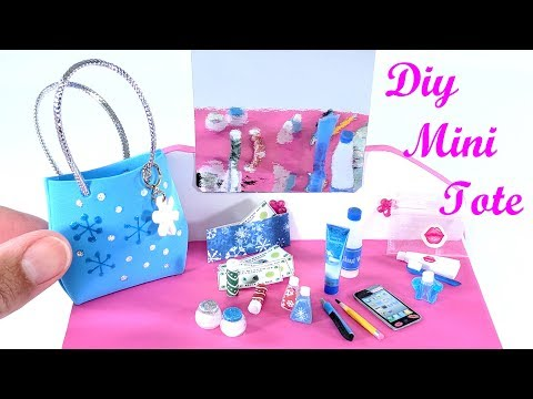 DIY Miniature Tote Purse Bag & Beauty Accessories