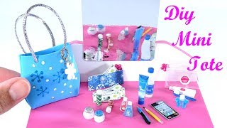DIY Miniature Tote Purse Bag & Beauty Accessories