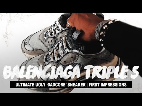 """THE ULTIMATE """"DAD"""" SHOES (Balenciaga Triple S Grey Sneakers Review)"""